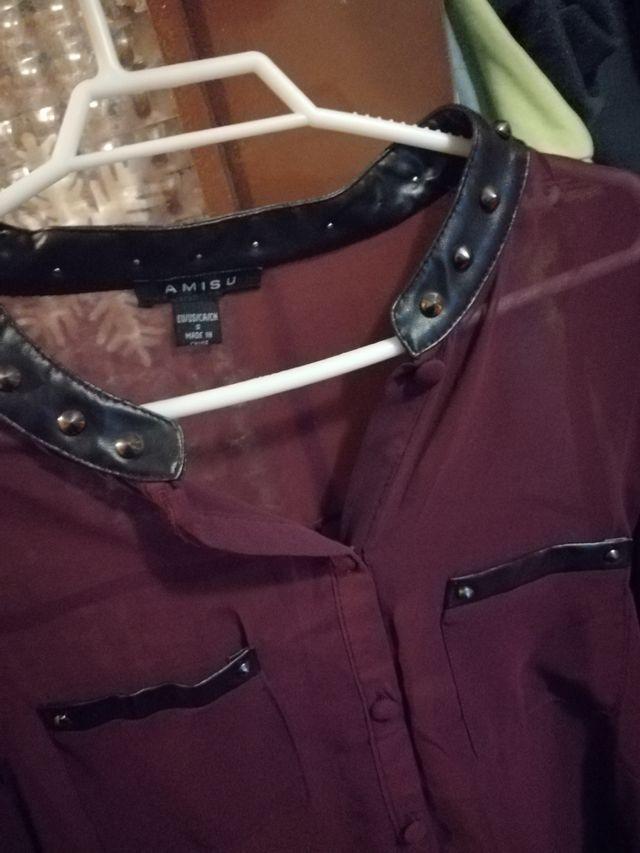 blusa burdeos