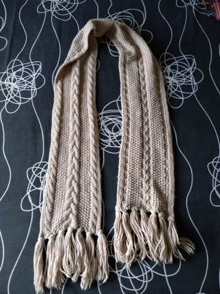 Bufanda lana beige
