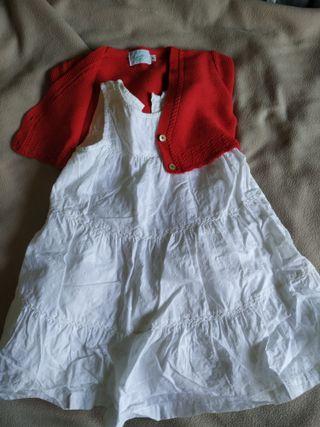vestido niña y chaqueta talla 2-3