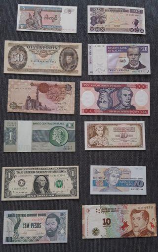 lote Billetes Extranjeros S/C