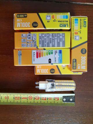 Bombilla LED g9 4,5w luz cálida 3200k