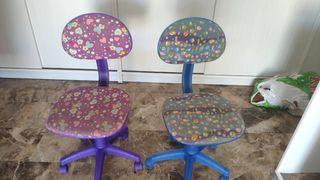 dos sillas infantiles