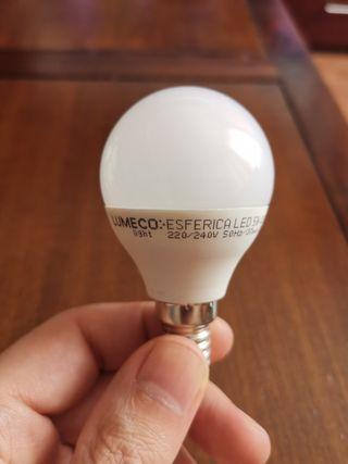 Pack 4 bombilla LED esf 5w E14 luz cálida NUEVA