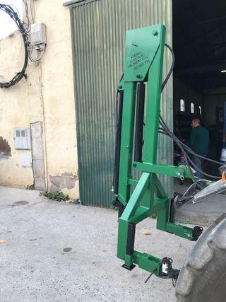 Pluma mantillas aceituna tractor