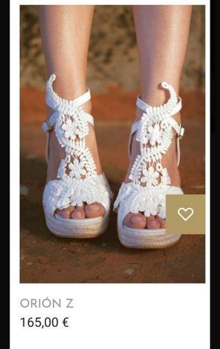 Alpargatas-sandalias novia