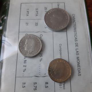3 Cartillas Pruebas Numismaticas 76 / 77 /80