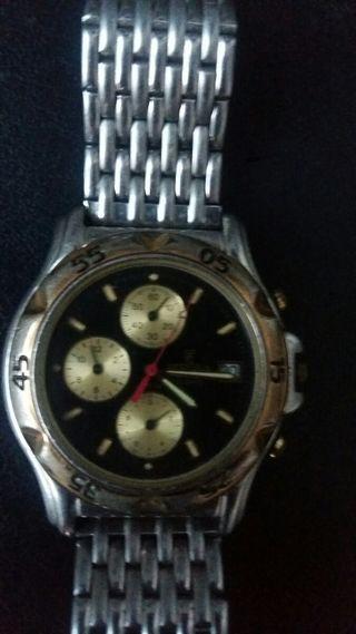 Reloj festina dorado y negro vintage