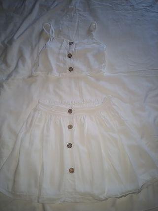 conjunto top y falda