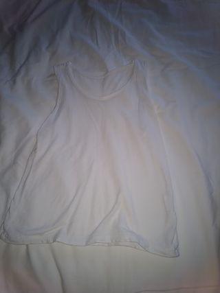 camiseta blanco tirantes niña