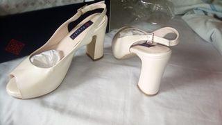 Zapato piel novia