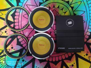 altavoces beyma y amplificador 500w audiocar