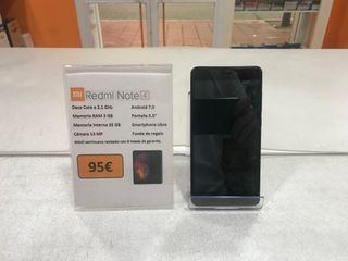 Smartphone Xiaomi Redmi Note 4 + Funda