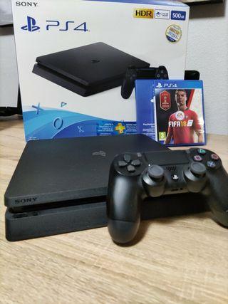 PS4 Slim 500gb completa