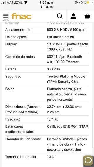 HP Pavilion 13 i5 8gb convertible 2 en 1