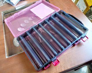 Caja Dura Doble para Señuelos Roja 275x185mm