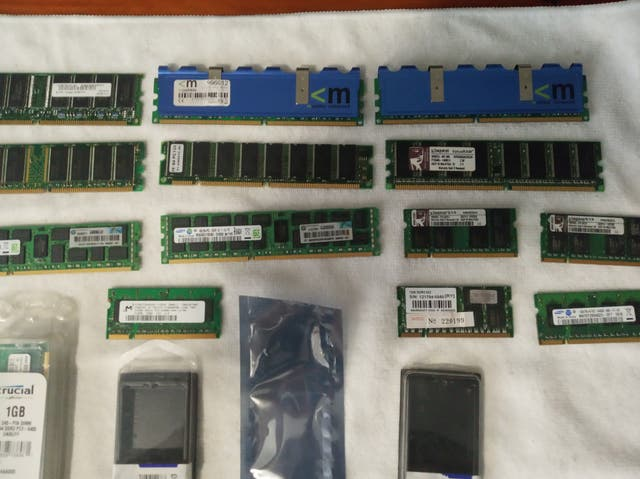Lote Memorias DDR DDR2 DDR3 - Desde 64 mb a 8 gb