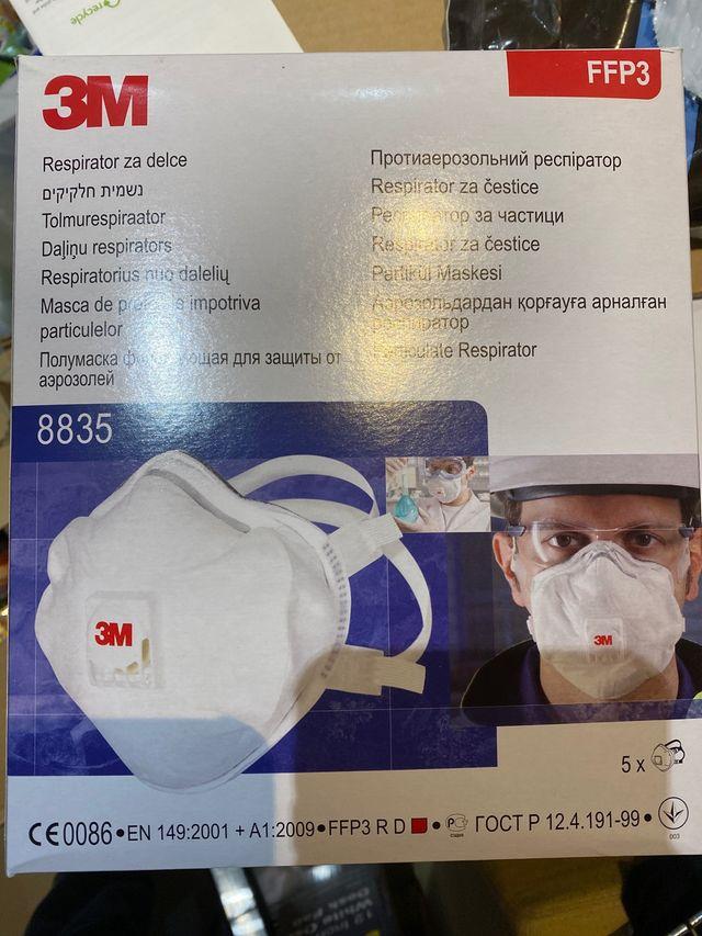 New 3M FFP3 8835 Box of 5 -N95 N99 Face Mask