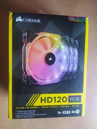 Ventilador Corsair HD120 RGB (x3)