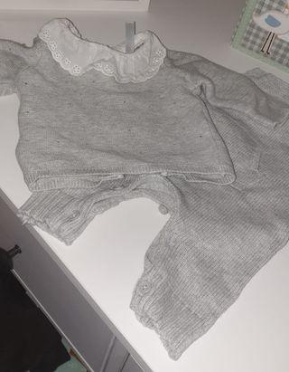 Conjunto jersey y peto bebé