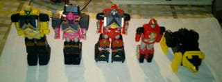 5 Megazords Power rangers Lote