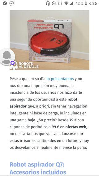 Robot aspirador Wish de segunda mano en Esplugues de