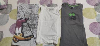 camisetas 3 años manga corta y tirantes