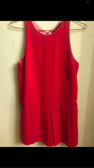 Vestido/Mono falda-pantalón Zara rojo
