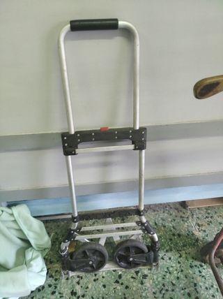 carretilla de transporte de aluminio. plegable