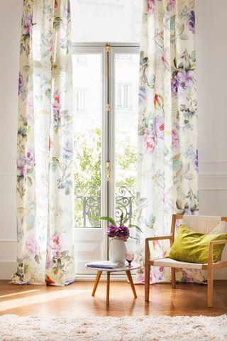 Cortinas florales Zara Home
