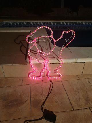 luces papa noel+escalera papa noel+cabeza rey mago