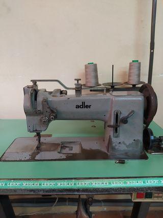 Máquina de coser plana triple arrastre