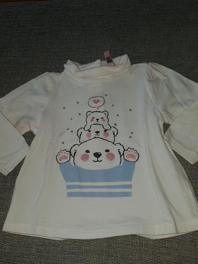 Camiseta manga larga Talla 12 a 18 meses