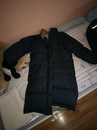 Abrigo azul plumas largo Pepe jeans M