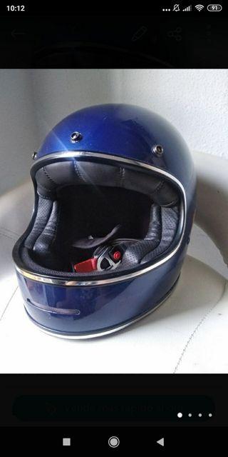 casco estiló café racer homologado nuevo