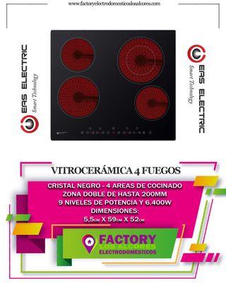 PLACA VITROCERAMICA EAS ELECTRIC EMCH295-3Fuegos