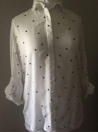 Camisa de mujer Stradivarius blanca