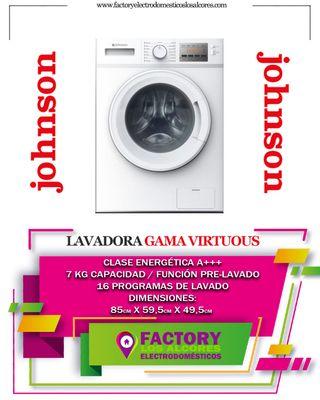 LAVADORA JOHNSON JWF721A 7KG 1200 RPM A+++