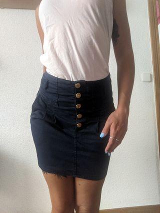 falda alta zara