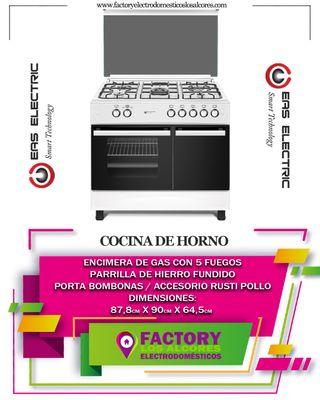 COCINA DE GAS EAS ELECTRIC EFG9B60W