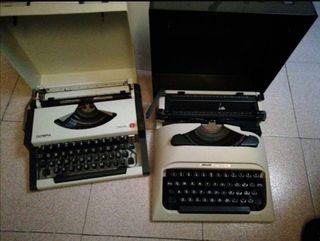Máquina de escribir Olivetti y Olympia