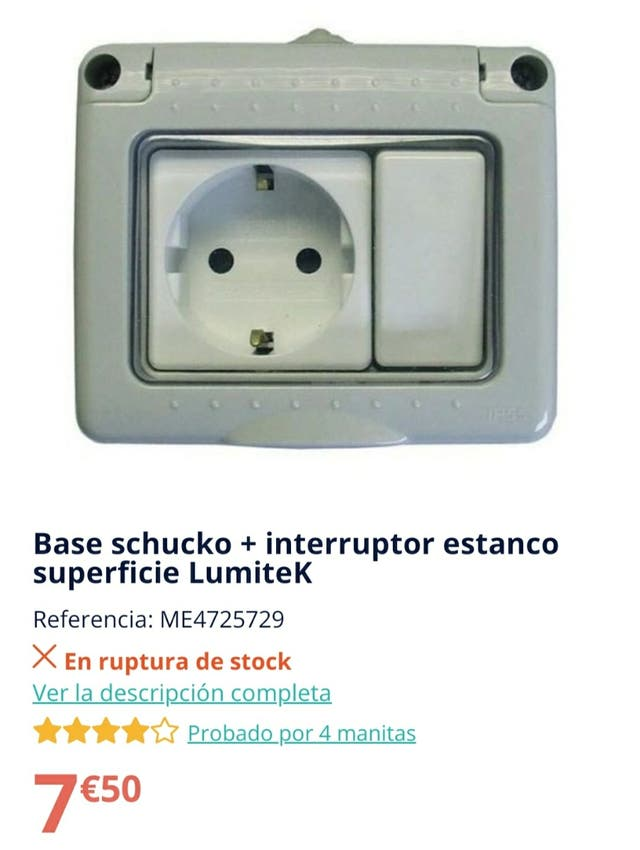 Interruptor estanco (para industria y exteriores)