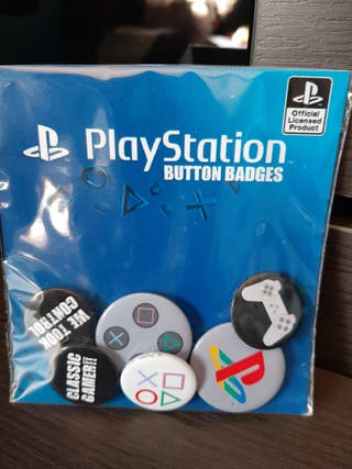 Pack de 6 chapas de PlayStation - Coleccionismo