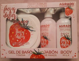 SET GEL DE BAÑO, JABÓN DE MANOS Y BODY MILK