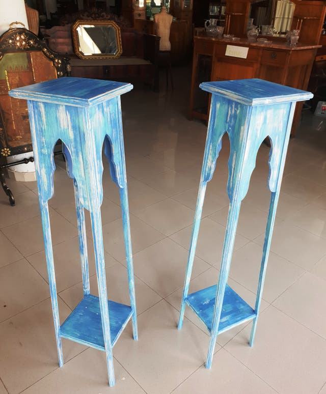 Pedestales antiguos restaurados