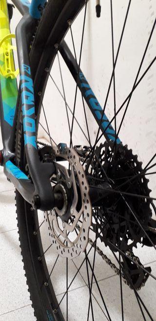 "Bicicleta BTT carbono 29"" talla M"