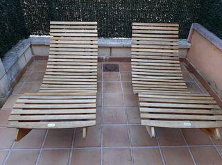 Tumbonas de madera