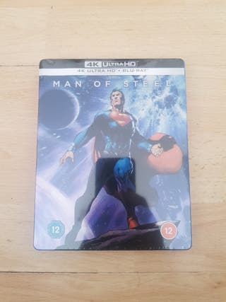 Man of Steel 4K ULTRA HD Blu Ray STEELBOOK