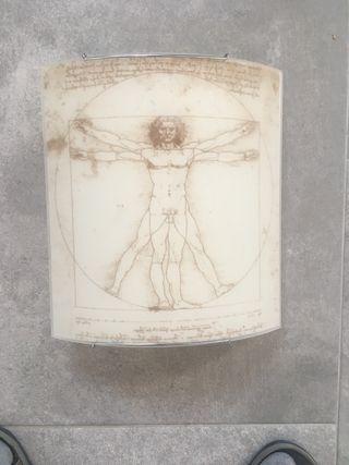 Aplique de pared hombre de Vitruvio