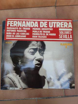 Disco vinilo Fernanda de Utreta
