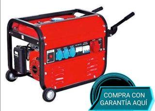 GENERADOR ELECTRICO GASOLINA CON RUEDAS 15L 5500W